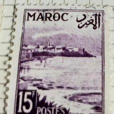 Sellos: SELLO DE MARRUECOS 1952 OUDAYAS'S POINT 15F. Lote 202751973