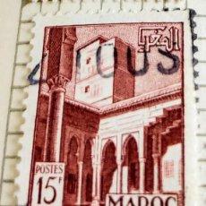 Sellos: SELLO DE MARRUECOS 1951 PATIO OUDAYAS 15F. Lote 202753813