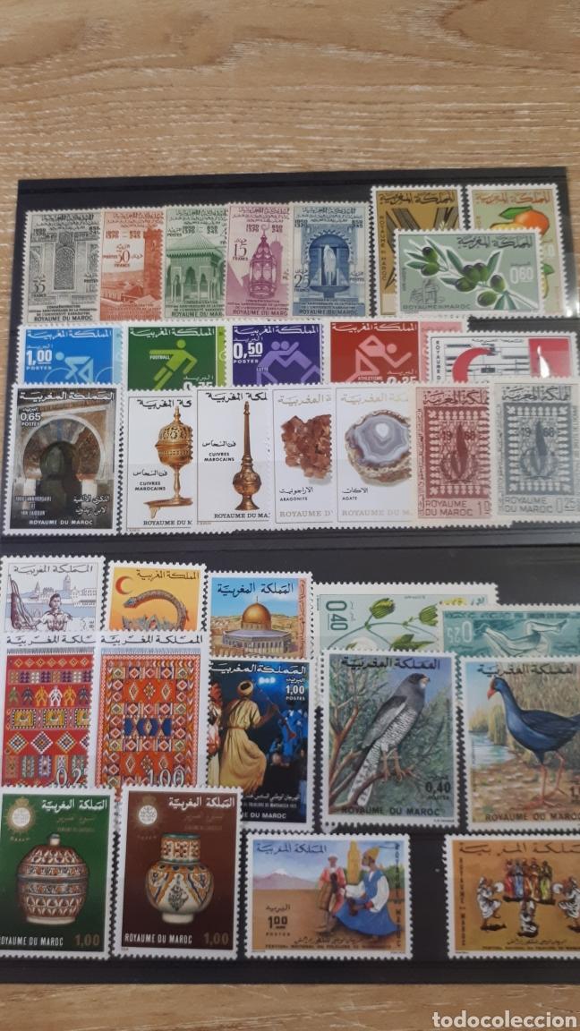 SELLOS DE MARRUECOS CON GOMA ORIGINAL Y168 (Sellos - Extranjero - África - Marruecos)