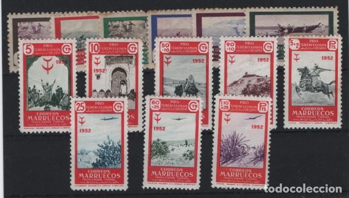 R75/ MARRUECOS ESPAÑOL, Nº 330/5 **, 361/8 **, MUY BONITO LOTE, CATALOGO 50,90 € (Sellos - Extranjero - África - Marruecos)