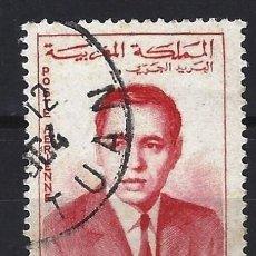 Selos: MARRUECOS 1962 - REY HASSAN II , AÉREO - SELLO USADO. Lote 208118525