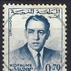 Selos: MARRUECOS 1962 - REY HASSAN II - SELLO USADO. Lote 208118696