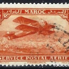 Selos: MARRUECOS 1922 - CORREO AÉREO, AVIÓN SOBRE CASABLANCA - SELLO USADO. Lote 212231278