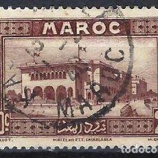 Timbres: MARRUECOS 1933 - MOTIVOS LOCALES, HOTEL EN CASABLANCA - SELLO USADO. Lote 212231656