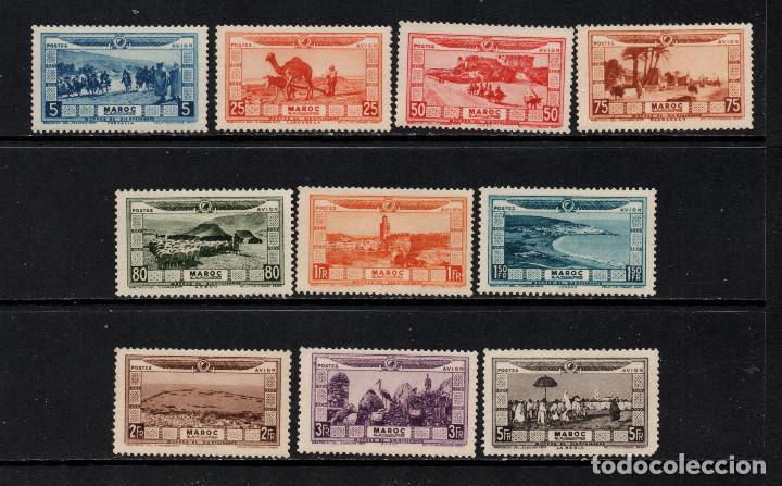 MARRUECOS AEREO 12/21** - AÑO 1928 - PRO VICTIMAS DE LAS INUNDACIONES (Sellos - Extranjero - África - Marruecos)