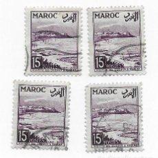 Sellos: 4 SELLOS USADOS MARRUECOS MAROC,15F, AÑO 1954.. Lote 217421027
