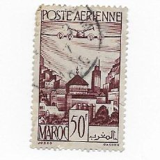Sellos: MARRUECOS MAROC, 50F, AEREO, AÑO 1955 USADO. Lote 217422412