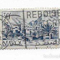 Sellos: SELLO DE MARRUECOS MAROC 1951 TODRA VALLEY 30F USADO. Lote 217423287