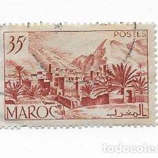 Sellos: SELLO DE MARRUECOS MAROC 1951 TODRA VALLEY 35F USADO. Lote 217423368