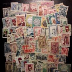 Sellos: MARRUECOS. LOTE DE 100 SELLOS DIFERENTES. MAYORÍA USADOS. LOS DE LAS FOTOS.. Lote 218550991