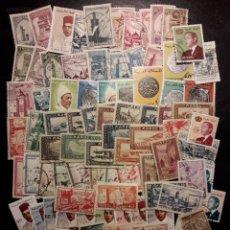 Sellos: MARRUECOS. LOTE DE 100 SELLOS DIFERENTES. MAYORÍA USADOS. LOS DE LAS FOTOS.. Lote 218551241