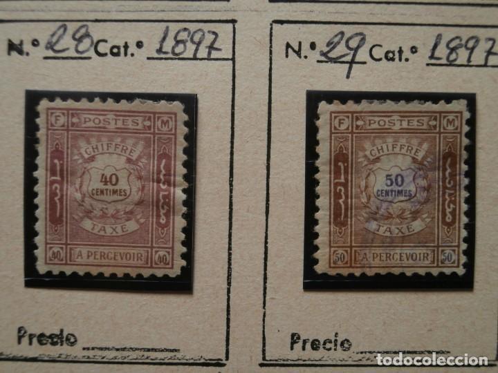 Sellos: FRANCIA-MARRUECOS CORREO LOCAL 1897 ZONA NORTE. - Foto 6 - 235062260