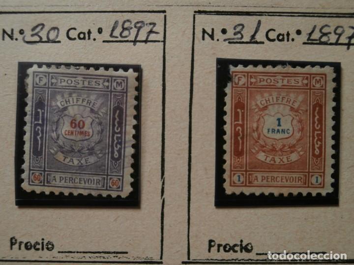 Sellos: FRANCIA-MARRUECOS CORREO LOCAL 1897 ZONA NORTE. - Foto 8 - 235062260
