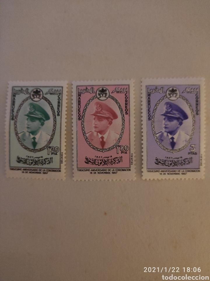 SELLOS MARRUECOS ZONA NORTE 27/29* - AÑO 1957 - 30º ANIVERSARIO DE LA CORONACION DE MOHAMED V (Sellos - Extranjero - África - Marruecos)
