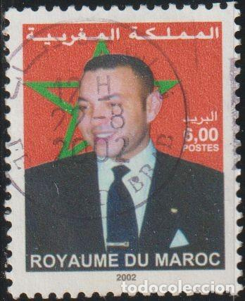 MARRUECOS 2002 SCOTT 934B SELLO º REY MOHAMMED VI MICHEL 1429 YVERT 1318B STAMPS TIMBRE BRIEFMARKE (Sellos - Extranjero - África - Marruecos)