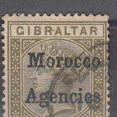 Timbres: MARRUECOS INGLÉS. USADO. SELLO DE GIBRALTAR 10 CÉNTIMOS CON S/CARGA MOROCCO AGENCIES. Lote 238781565