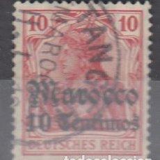 Sellos: MARRUECOS ALEMÁN. SELLO DE ALEMANIA SOBRECARGADO MOROCCO 10 CENTIMOS. MATº TANGER.. Lote 239602835