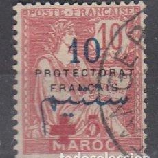 Timbres: MARRUECOS FRANCÉS. YVERT 55 USADO. S/CARGA 10 CÉNTIMOS.CRUZ ROJA.. Lote 240162485