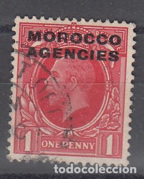 MARRUECOS INGLÉS. SELLO DE GRAN BRETAÑA YVERT 28 S/C 'MOROCCO AGENCIES'. USADO. (Sellos - Extranjero - África - Marruecos)