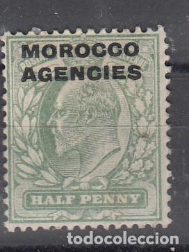MARRUECOS INGLÉS. SELLO DE GRAN BRETAÑA SOBRECARGADO 'MOROCCO AGENCIES'. NUEVO CON FIJASELLOS. (Sellos - Extranjero - África - Marruecos)