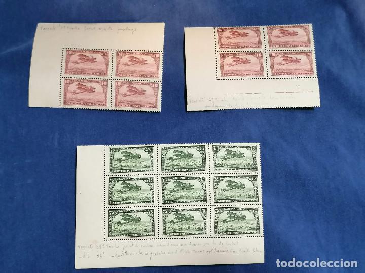 Sellos: Marruecos Francia Colonia Francesa año 1927 Bordes De Hoja con variedades III nuevo */** - Foto 2 - 240946860