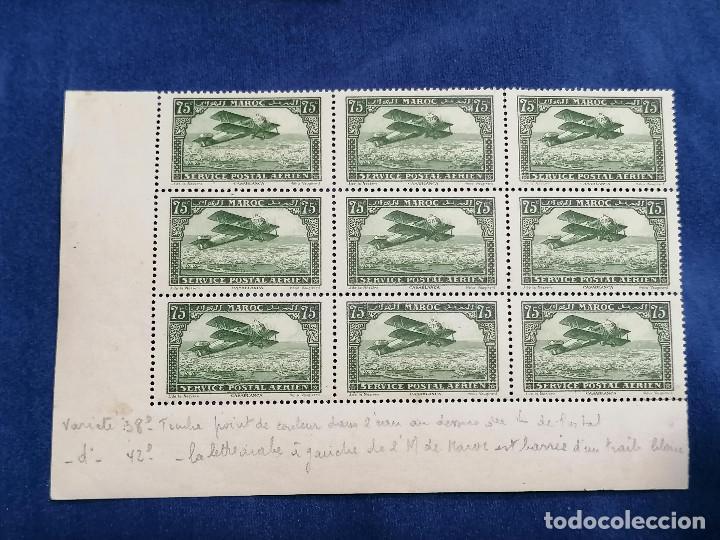 Sellos: Marruecos Francia Colonia Francesa año 1927 Bordes De Hoja con variedades III nuevo */** - Foto 5 - 240946860