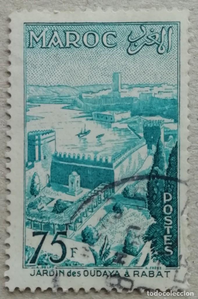 1955. MARRUECOS. 361. JARDÍN DE OUAÏAS FRENTE AL PUERTO DE RABAT. SERIE COMPLETA. USADO. (Sellos - Extranjero - África - Marruecos)