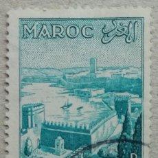 Timbres: 1955. MARRUECOS. 361. JARDÍN DE OUAÏAS FRENTE AL PUERTO DE RABAT. SERIE COMPLETA. USADO.. Lote 243346850