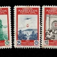 Sellos: F5-5 MARRUECOS EDIFIL Nº325-329 SERIE COMPLETA SIN FIJASELLOS VER.. Lote 253802980