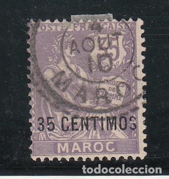 MARRUECOS DESPACHO FRANCÉS .24 USADA, (Sellos - Extranjero - África - Marruecos)