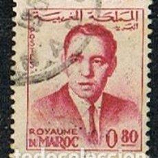 Sellos: MARRUECOS IVERT Nº 444, EL REY HASSAN II, USADO. Lote 260866590