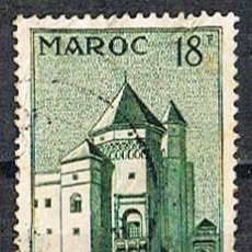 Sellos: MARRUECOS (COLONIA FRANCESA IVERT Nº 355, PALACIO DE JUSTICIA DE CASABLANCA. USADO. Lote 260869835