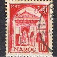 Sellos: MARRUECOS (COLONIA FRANCESA) IVERT Nº 308 A, MEZQUITA DE KARAUINE, USADO. Lote 260873185