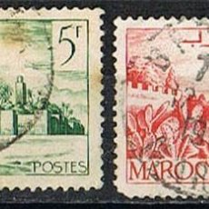 Sellos: MARRUECOS (COLONIA FRANCESA) IVERT Nº257, MURALLAS, USADO. Lote 260874330
