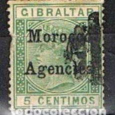 Sellos: MARRUECOS (CORREO BRITANICO EN MARRUECOS) Nº 9, AÑO 1899, USADO. Lote 261101775