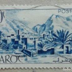 Sellos: 1951. MARRUECOS FRANCÉS. 305. POBLACIÓN Y MONTAÑAS DEL VALLE DE TODRA. USADO.. Lote 262413710