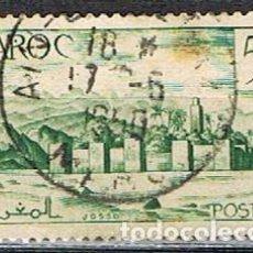 Sellos: MARRUECOS (COLONIA FRANCESA) IVERT Nº 257 A (AÑO 1947), MURALLAS, USADO. Lote 262441240