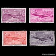 Sellos: MARRUECOS ZONA NORTE.1956.CONSTELACIÓN.SERIE.MNH.EDIFIL 9-12. Lote 262530945