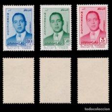 Sellos: MARRUECOS.ZONA NORTE.1957.HASSAN PRÌNCIPE.SERIE .MNH.EDIFIL 24-26. Lote 262538295