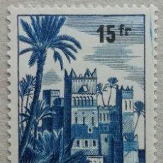 Sellos: 1954. MARRUECOS FRANCÉS. 328. KASBAH DE LA CIUDAD DE OUARZAZAT. USADO.. Lote 278799718