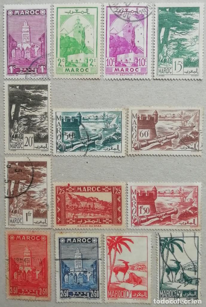 1947. MARRUECOS FRANCÉS. 246 / 265-A. SELLOS NUEVOS Y MATASELLADOS. (Sellos - Extranjero - África - Marruecos)