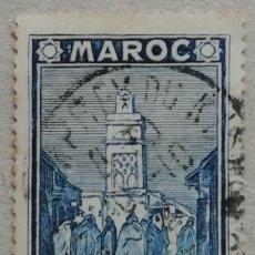 Sellos: 1939. MARRUECOS FRANCÉS. 192. TORRE DE LA MEZQUITA DE SALÉ. USADO.. Lote 288148443