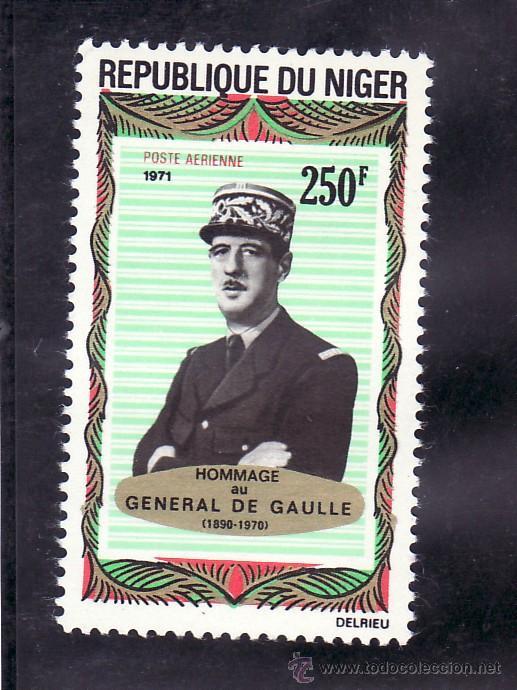 NIGER A 163 SIN CHARNELA, HOMENAJE AL GENERAL DE GAULLE, (Sellos - Extranjero - África - Niger)
