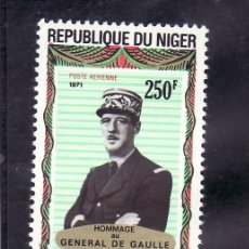 Sellos: NIGER A 163 SIN CHARNELA, HOMENAJE AL GENERAL DE GAULLE, . Lote 24573173