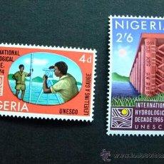 Sellos: NIGERIA UNESCO AÑO 1967 YV 206 - 207 ** MNH . Lote 34560693