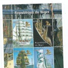 Sellos: PRECIOSA HOJA BLOQUE, DE BUQUES, REPUBLIQUE DU NIGER, NUEVO. Lote 38978891