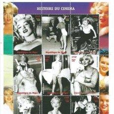 Sellos: MARILYN MONROE, 1926-1962, LA ACTRIZ DEL SIGLO, REPUBLIQUE DU NIGER, NUEVO. Lote 39016263