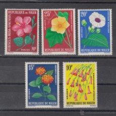 Sellos: NIGER 136/40 SIN CHARNELA, FLORES, . Lote 42432908
