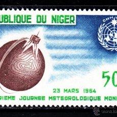 Sellos: NIGER AEREO 41** - AÑO 1964 - DIA METEOROLOGICO MUNDIAL. Lote 46181172