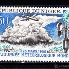 Sellos: NÍGER AEREO 105** - AÑO 1969 - DIA METEOROLÓGICO MUNDIAL. Lote 46181232